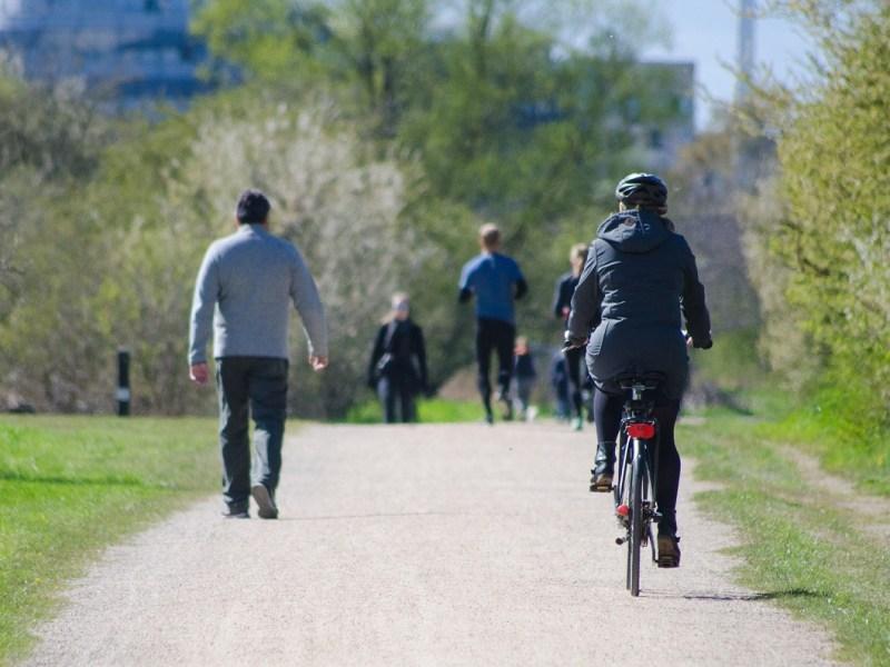 peaton atropellado por ciclista reclamador