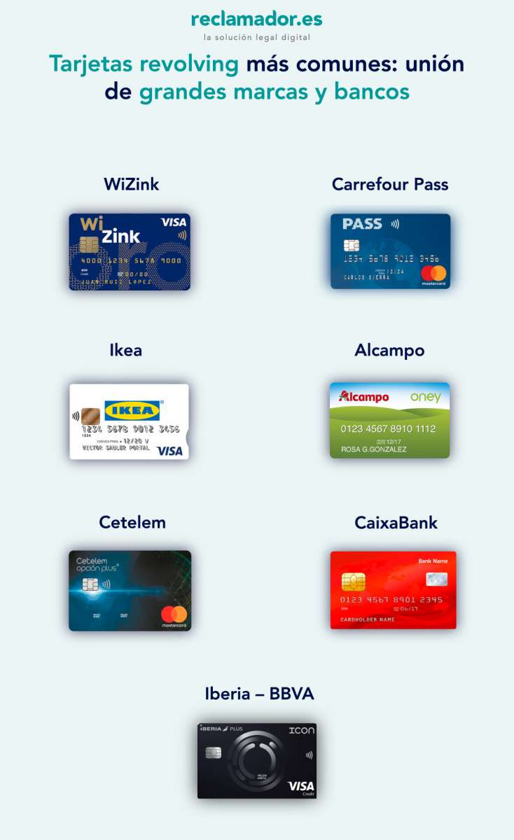 tarjetas revolving mas comunes