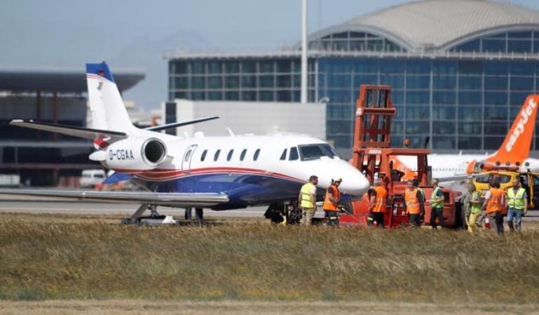 Accidente de avioneta en el aeropuerto de Alicante