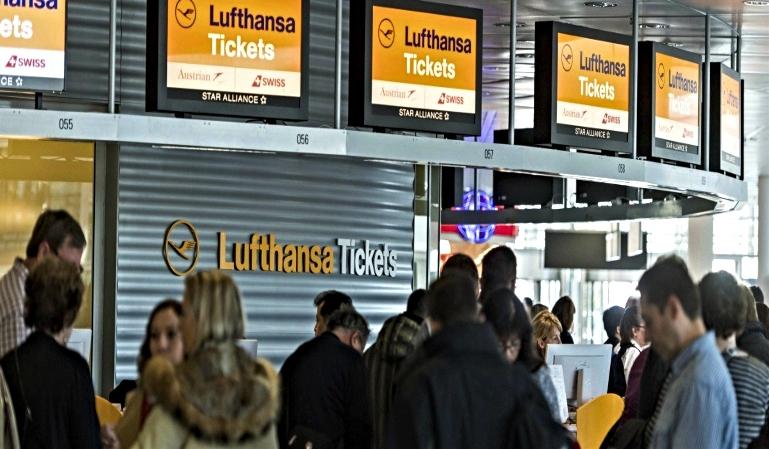 La huelga en Lufthansa cancela 1300 vuelos