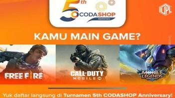 Ultah yang Kelima, Codashop Gelar 3 Turnamen esports