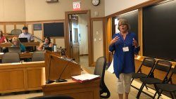 Dr. Smith presenting at the 2019 UDL Symposium at Harvard University