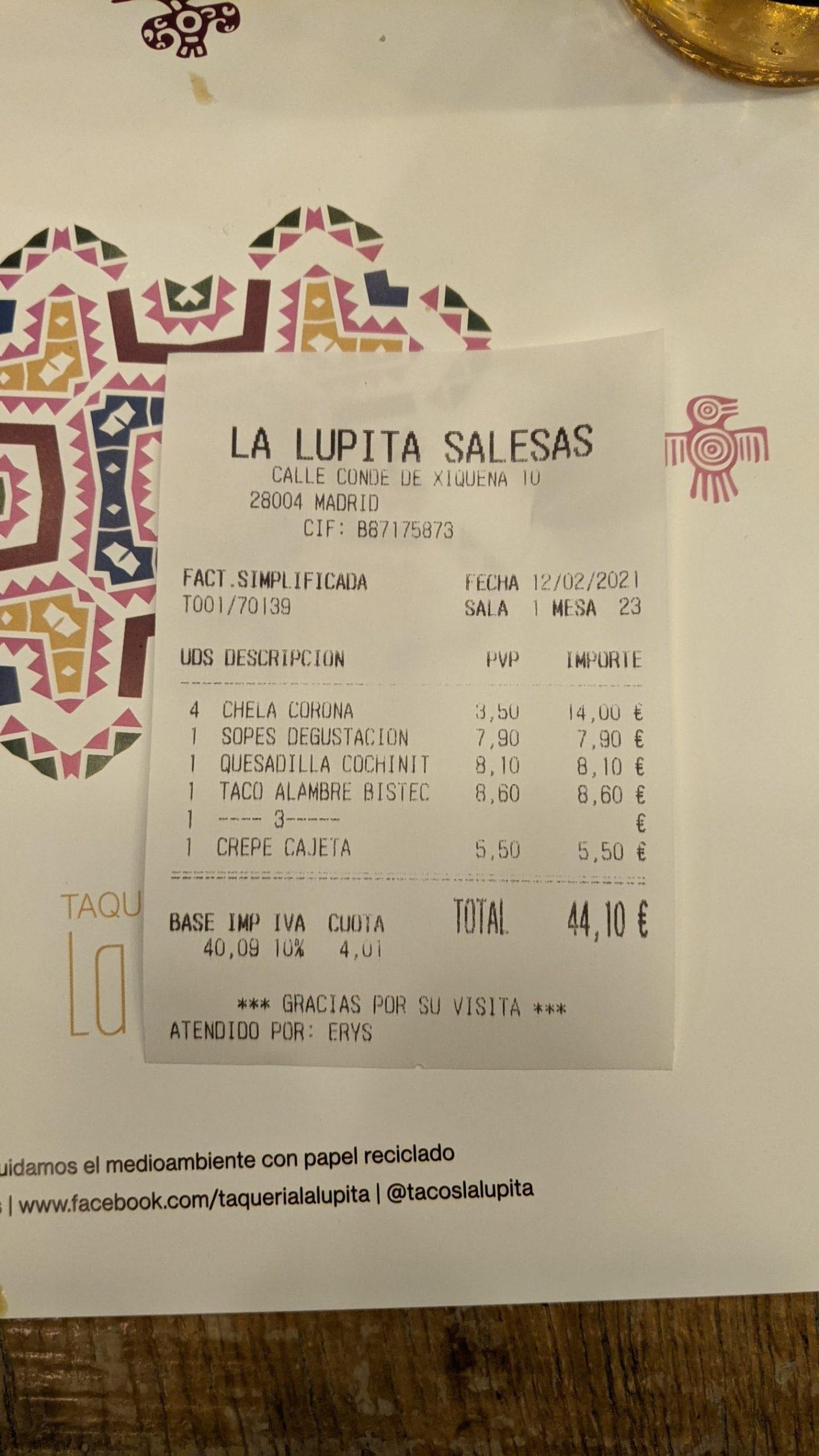 La Lupita (Conde de Xiquena, Madrid)