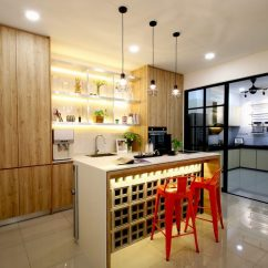 Modern Style Of Divider Counter In Living Room And Kitchen 2018 14 Wet Dry Design Ideas Malaysian Homes Recommend How To Prevent Your Entire House From Smelling Belacan When You Cook