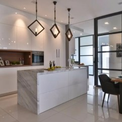 Modern Style Of Divider Counter In Living Room And Kitchen Furniture Tables 14 Wet Dry Design Ideas Malaysian Homes Recommend A White Island That Acts As Natural Between The Dining Area Also Creates Pathway From To