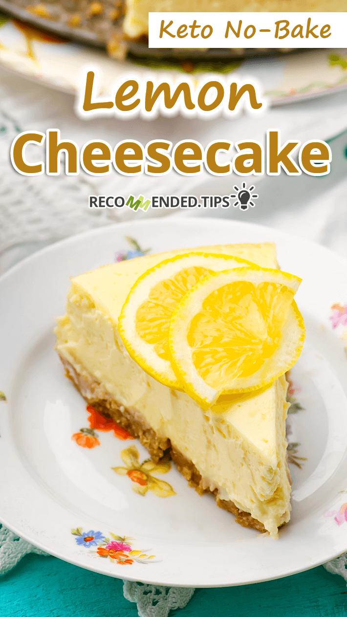 Keto No-Bake Lemon Cheesecake