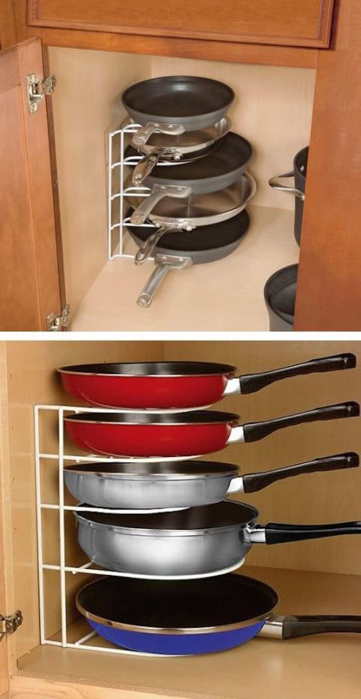 Get a pan organizer.