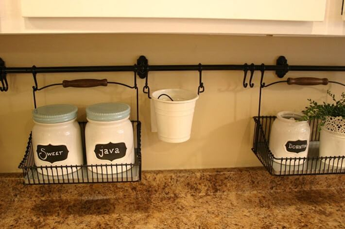 Use your backsplash to keep counters clutter-free
