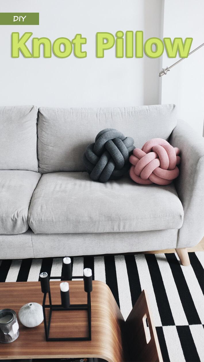 DIY Knot Pillow