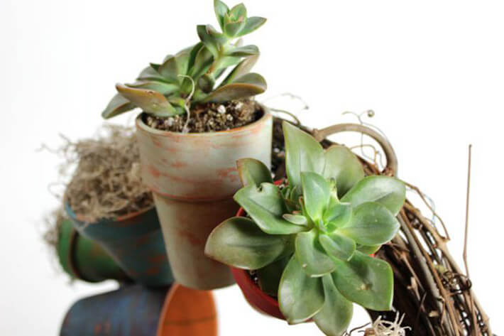 How to Make a Clay Pot Wreath