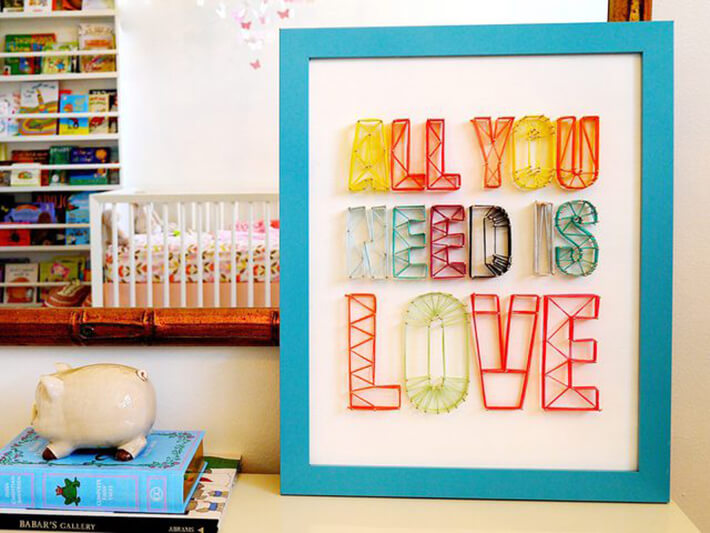 DIY - String Art Sign