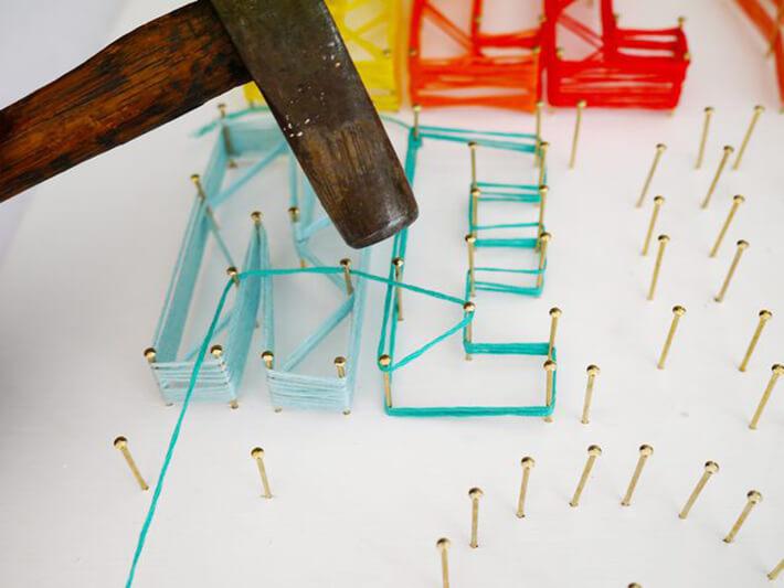 DIY - String Art Sign