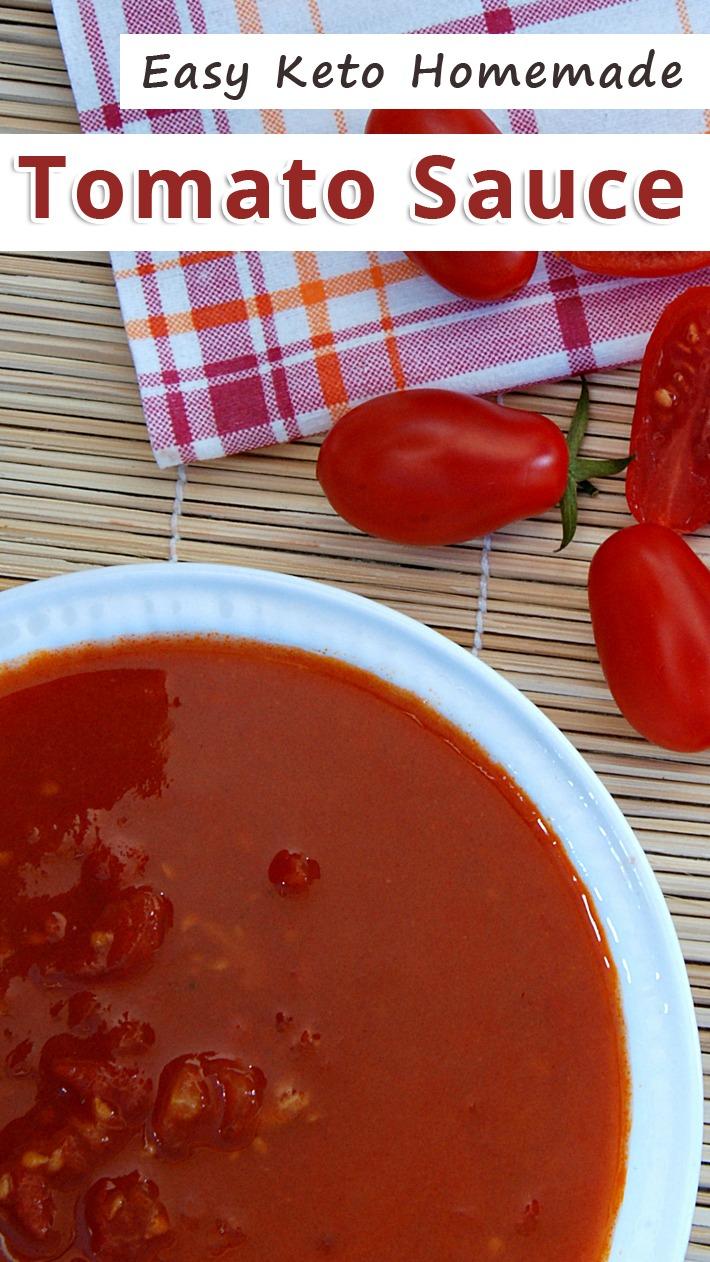 Easy Keto Homemade Tomato Sauce