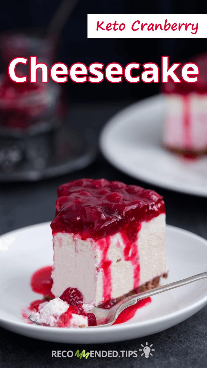 Keto Cranberry Cheesecake