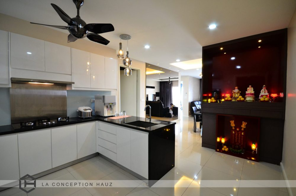 design kitchen red accessories 50 malaysian designs and ideas recommend my living for 288 residency setapak project by la conception hauz