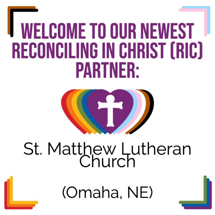 A New RIC Community: St. Matthew Lutheran Church (Omaha, NE)