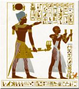 Seti and Ramesses offering to the Pharaohs