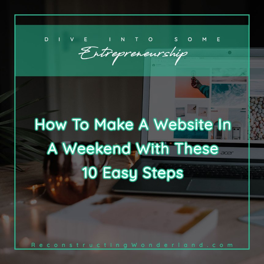 how to make a website in a weekend