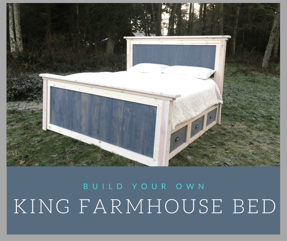Diy king farmhouse bed plans reconstruction life for Farmhouse bed frame plans