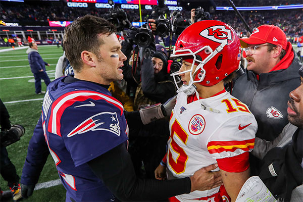 El abrazo cuando Brady aún jugaba con Pats