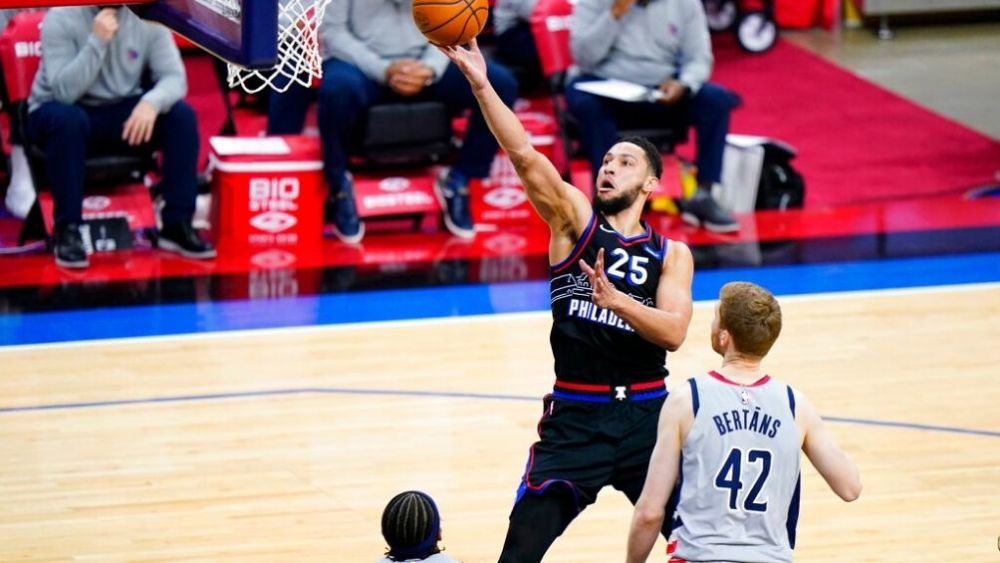 76ers defeated Wizards