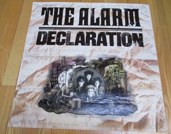 "ALARM, The  ""DECLARATION"" Vintage 1984 Album Promo Poster"