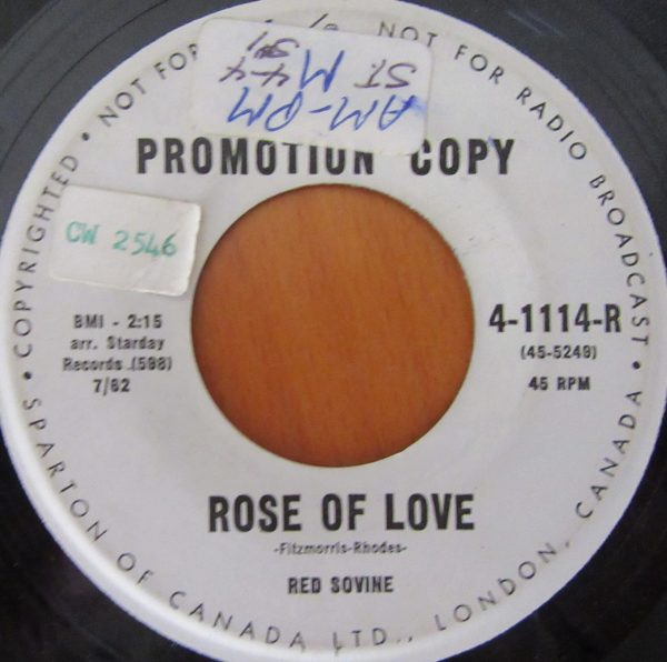 SOVINE, RED - ROSE OF LOVE / SHE CAN'T READ MY WRITING