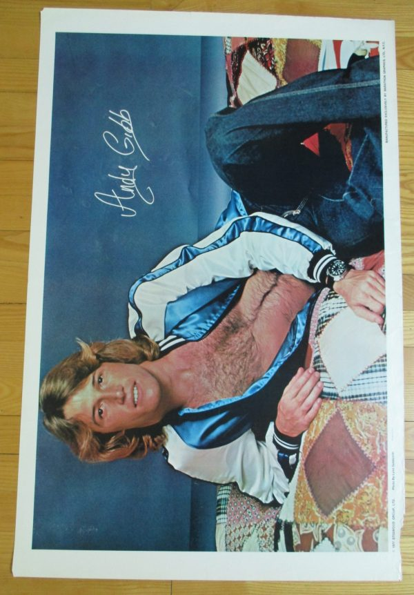 "ANDY GIBB Vintage 1977 Poster Original 35"" x 23"" Marathon"
