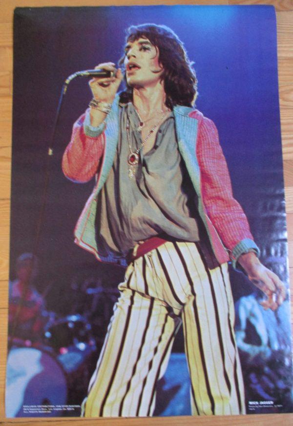 "ROLLING STONES - MICK JAGGER Vintage 1977 Poster 35"" x 23"" Original"