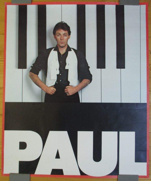 "McCARTNEY, PAUL Vintage Promo Poster 1982 ""TUG OF WAR"" 29″ x 24″ Original"