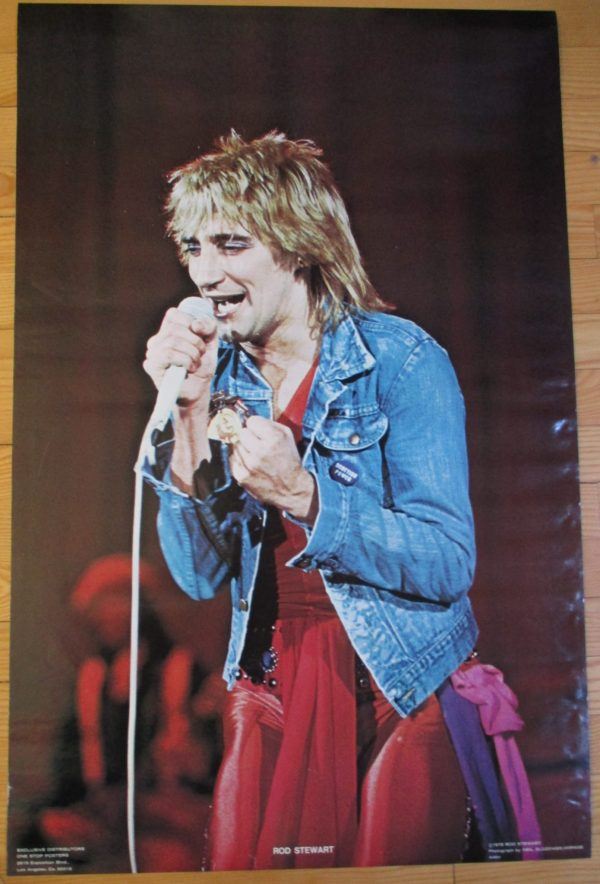 STEWART, ROD Vintage Poster 34″ x 22″ Original 1977 One Stop #1