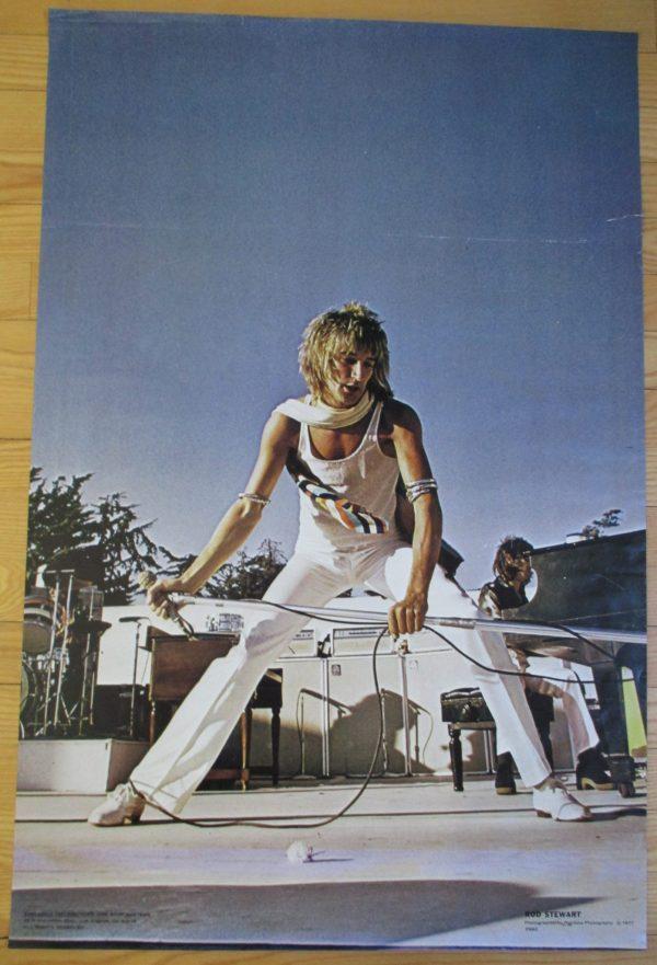 STEWART, ROD Vintage Poster 34″ x 22″ Original 1977 One Stop #2