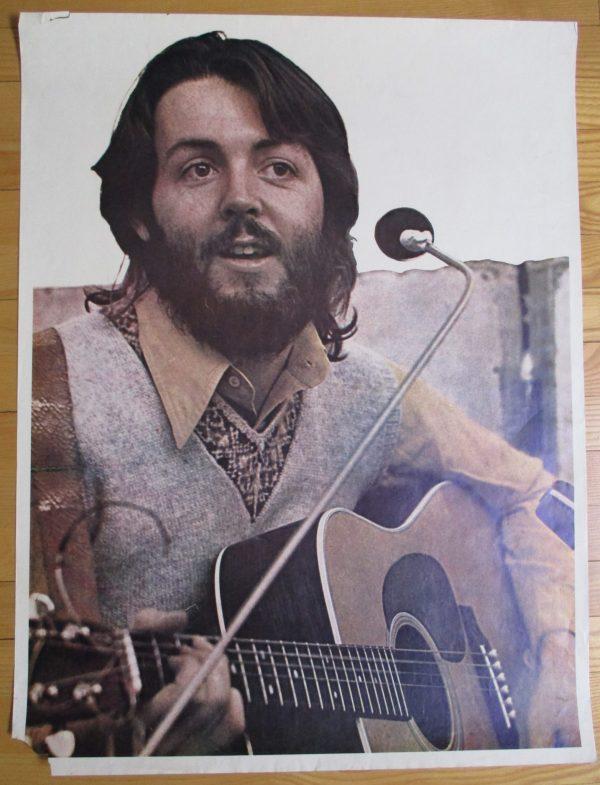 McCARTNEY, PAUL Vintage Poster 1970's Original 30″ x 23″