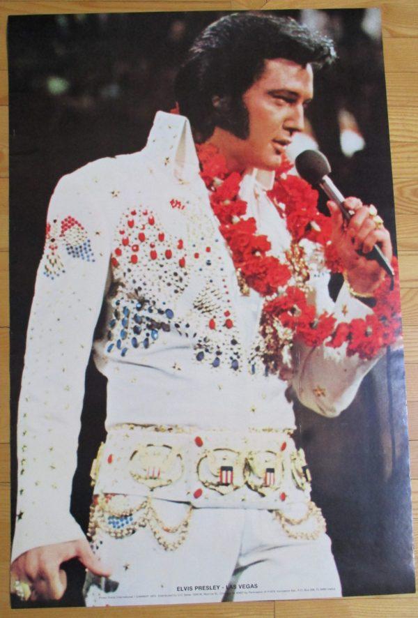 """PRESLEY, ELVIS Vintage Poster """"LAS VEGAS"""" 1975 Original 35"""" x 23"""" GAMMA"""