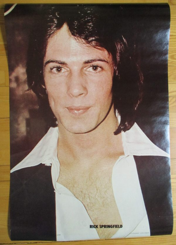 SPRINGFIELD, RICK Vintage 1980's Poster 35″ x 23″ T.V. Promotions