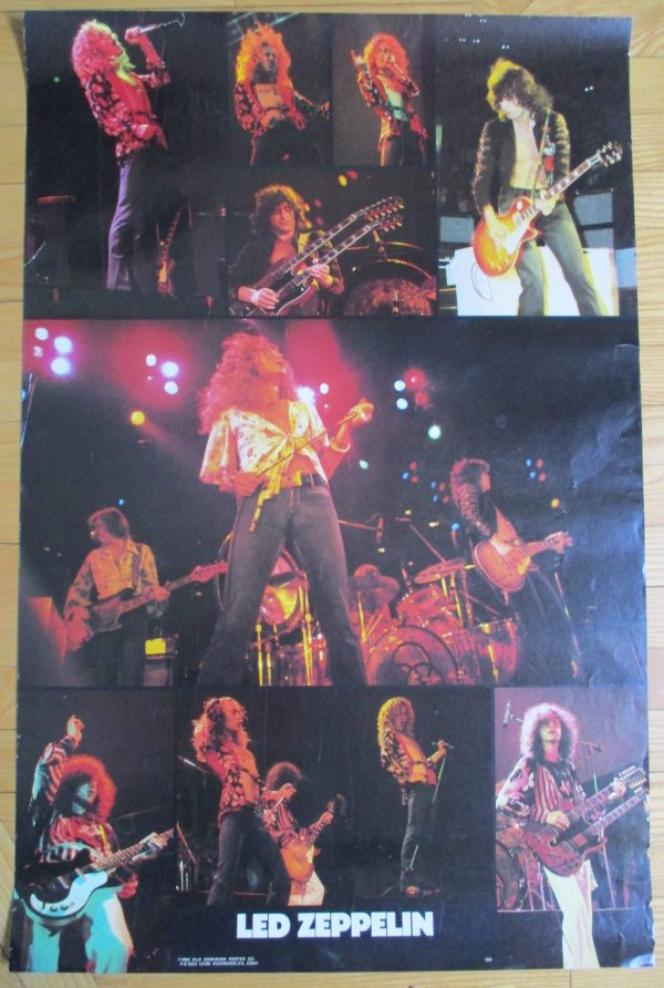 LED ZEPPELIN Vintage Poster 1980 Original 35″ x 23″ OLD DOMINION