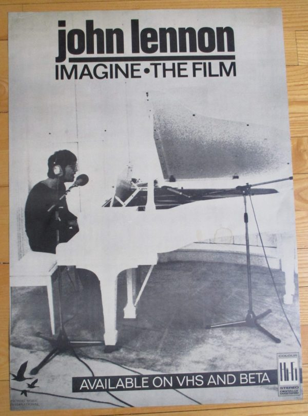 "LENNON, JOHN Vintage Promo Poster ""IMAGINE - THE FILM""  24″ x 17″ RARE"