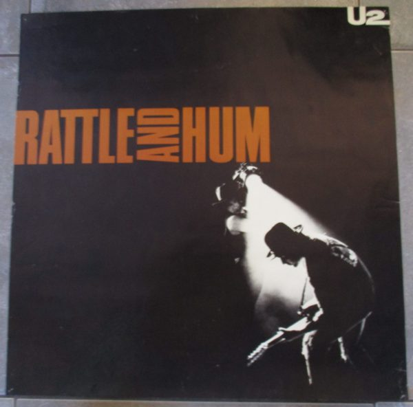 "U2 Vintage Promo Poster 1988 ""RATTLE AND HUM"" 23″ x 23″ Original"