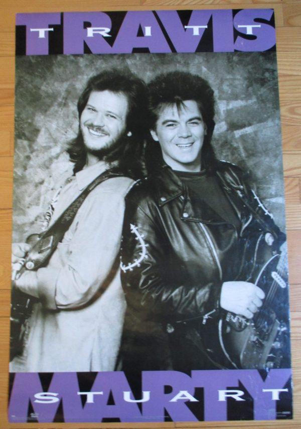 TRITT, TRAVIS & MARTY STUART Vintage Poster 1991 Original 35″ x 23″