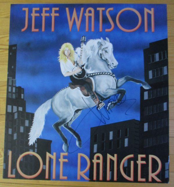 "WATSON, JEFF Vintage Promo Poster ""LONE RANGER"" 1992 Autographed Original 24"" x 22"""
