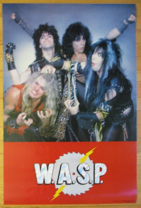 "W.A.S.P. Vintage Poster 1984 Original 31"" x 22"" Funky"