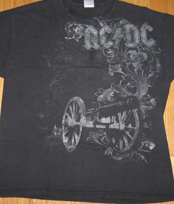 AC/DC CANNON T-SHIRT L