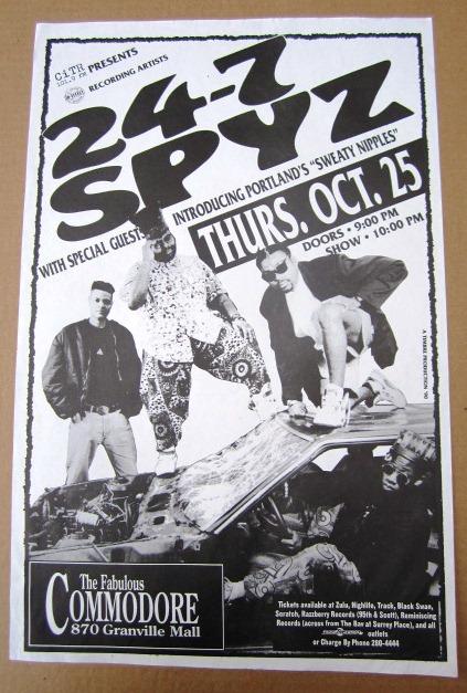 24-7 SPYZ Concert GIG Tour Poster Vancouver Canada ORIGINAL