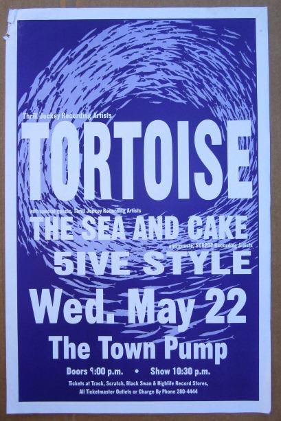TORTOISE GIG Tour Poster Vancouver, Canada ORIGINAL
