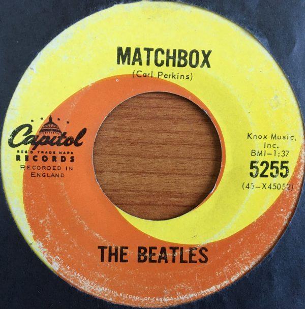 BEATLES, The – Canadian 45 RPM – 5255 – MATCHBOX / SLOW DOWN