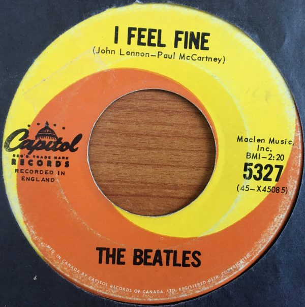 BEATLES, The – Canadian 45 RPM – 5327 – I FEEL FINE / SHE'S A WOMAN