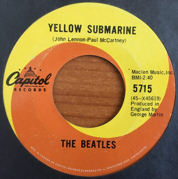 BEATLES, The – Canadian 45 RPM – 5715 – YELLOW SUBMARINE / ELEANOR RIGBY