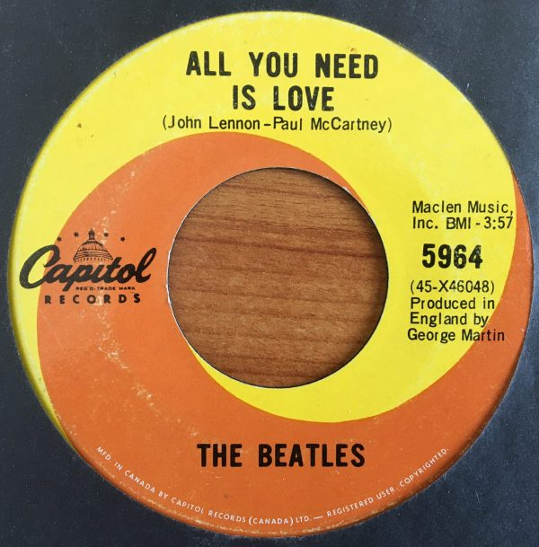 BEATLES, The - Canadian 45 RPM - 5964 - ALL YOU NEED IS LOVE / BABY, YOU'RE A RICH MAN