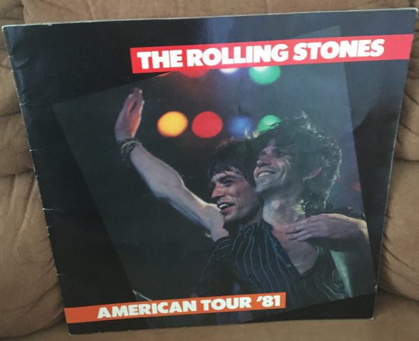 "ROLLING STONES – Tour Book Concert Program ""American Tour '81"" (1981)"