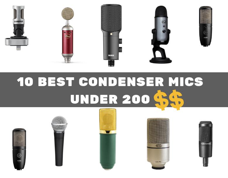 best condenser microphones under 200